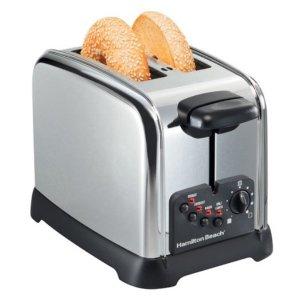 $19.99(原价$39.99)黑五预告:Hamilton Beach  两片面包烘烤机/吐司机热卖
