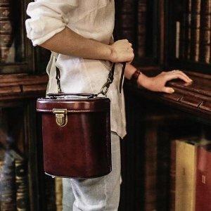 全场9折 收复古牛皮水桶包 和撞包Say No独家:Beara Beara英国小众学院风美包全场热卖