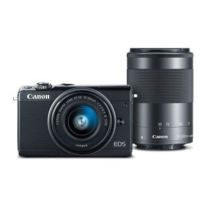 Canon EOS M100 Mirrorless Camera w/ 15-45mm Lens & 55-200mm Lens