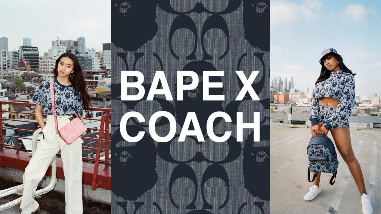 Bape X Coach 2021 联名新系列 | 7月24日全球发售,Get木村光希与梅根限量同款!