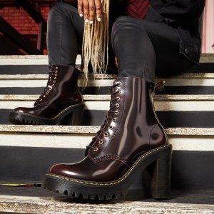 €130收封面酷帅高跟亮皮靴黑五价:Dr. Martens 马丁靴 黑五全场低至7折 €75入大童成人码高靴
