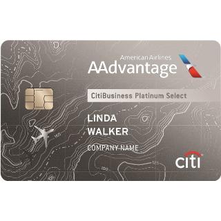 Earn 70,000 American Airlines AAdvantage® bonus milesCitiBusiness® / AAdvantage® Platinum Select® World Mastercard®