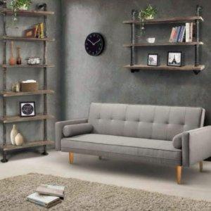 $271 (原价$811)一年质保Artiss Linen 灰色沙发床两用