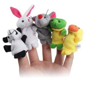 $4.07 10pcs Velvet Animal Style Finger Puppets Set