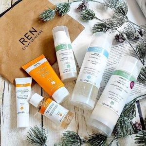 手部护理8折+最高送5件好礼REN 护肤热卖 孕妇敏感肌必入的有机护肤品牌