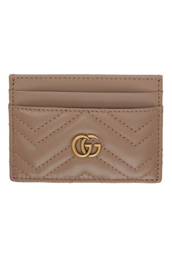 GG Marmont 裸色卡包