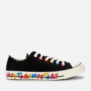 Converse3-8码黑色低帮帆布鞋