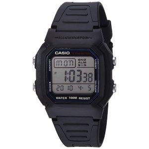 CasioMen's Classic W800H-1AV Sport Watch with Black Resin Band