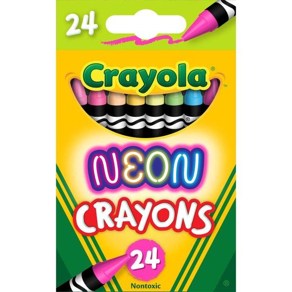 荧光蜡笔24色