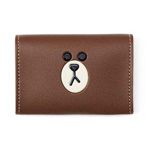 Line Friends布朗熊 革制名片夹