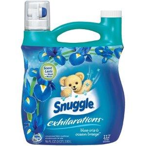 $6.57Snuggle Exhilarations Liquid Fabric Softener, Blue Iris & Ocean Breeze, 96 Ounce, 112 Loads @ Walmart