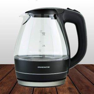 史低价:Ovente KG83 时尚玻璃电热水壶 1.5L
