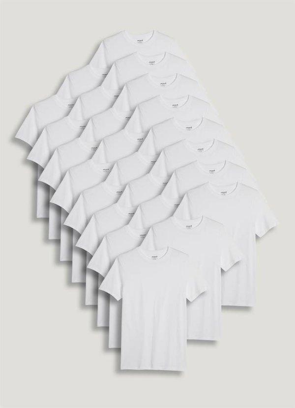 白色圆领T恤24件套