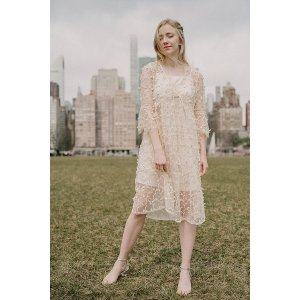Ecru Emissary| Ange Embroidery Dress