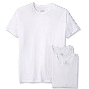 Hanes Men's 3-Pack Tagless Cotton Crew Neck Undershirts