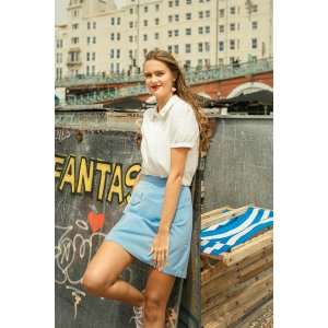 miss patinaPicnic Skirt (Sky Blue)Sign up to receive email updatesThank You!