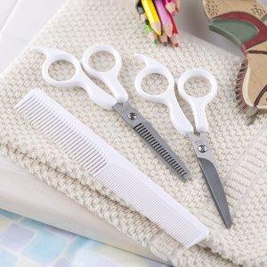 直邮含税到手$48贝印 儿童理发套装 自带剪刀套 巧手妈妈在家给孩子理发专用