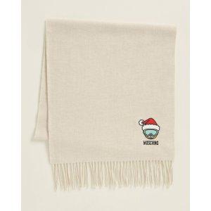 MoschinoMerino Wool Holiday Teddy Scarf