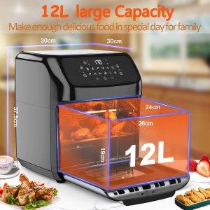 $110(原价$189.9)减脂餐神器MIC LED触控屏12L大容量空气炸锅