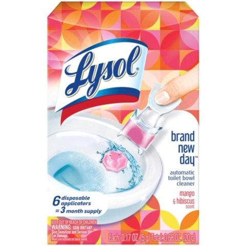 Lysol Automatic Toilet Bowl Cleaner, Click Gel, 6 Count