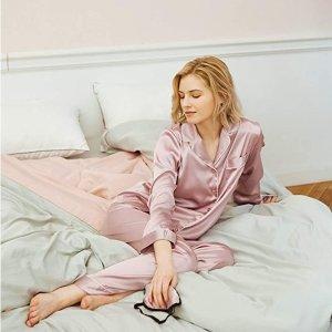 售价€38.99 减少皮肤、头发摩擦SIORO 缎面居家睡衣 亲肤柔软超舒适 提高睡眠质量神器
