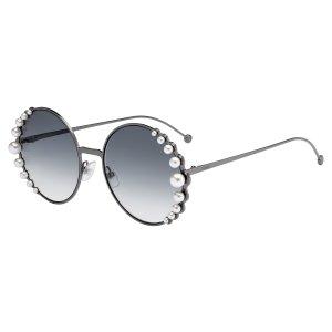 FendiRibbons And Pearls 0295 Round Sunglasses