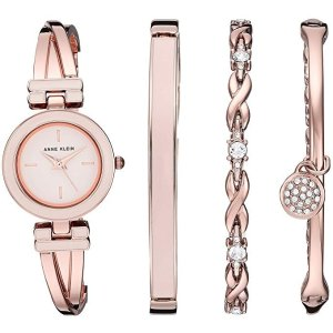61dbdd13f53 Anne KleinWomen s Bangle Watch and Swarovski Crystal Accented Bracelet Set