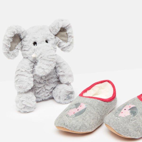 儿童毛绒玩偶+居家鞋礼品套装
