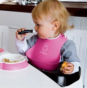 $9.99(原价$16.99)BABYBJORN 婴儿防漏食物围嘴