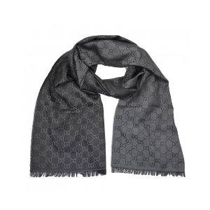 Gucci黑灰围巾