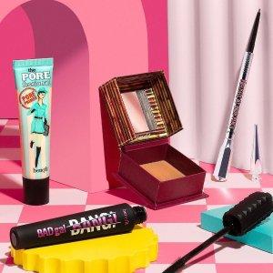 全线7.5折Benefit 彩妆好价 收Cookie高光、反恐精英、眉部套装