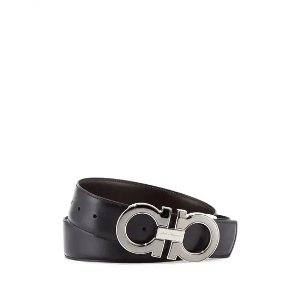 Salvatore FerragamoA $490 Value Gift with $500 PurchaseMen's Reversible Leather Gancini-Buckle Belt, Black/Brown