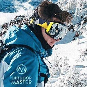 $19.99(原价$39.99)+包邮OutdoorMaster 滑雪护目镜 可换镜片