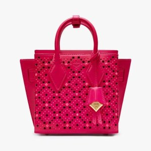MCMNeo Milla Tote in Perforated Leather