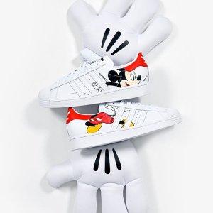 $40起收+包邮adidas官网 SuperStar系列男女运动鞋 收米奇限定款