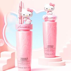 期待法国上新 粉猫配粉水Lancome x HelloKitty 联名款粉水要来啦 可爱满分 太甜了