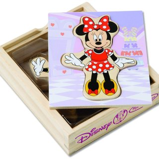 $3.99Melissa & Doug Disney Minnie Mouse Mix and Match Dress-Up Wooden Play Set (18 pcs)