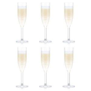 Bodum防碎材质 不会破裂OKTETT香槟杯 6件