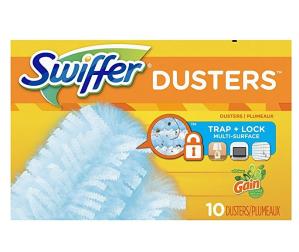 $5.57(原价$10.49)史低价:Swiffer 180度羽毛掸子替换装10个装