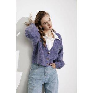 J.INGElsie Purple Oversized 毛衣外套