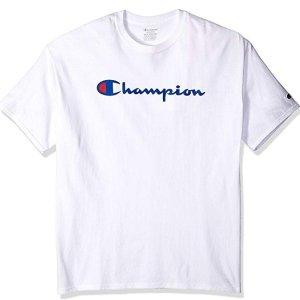 $10.13($19.00)+FREE SHIPPING Champion Men's Classic Jersey Script T-Shirt