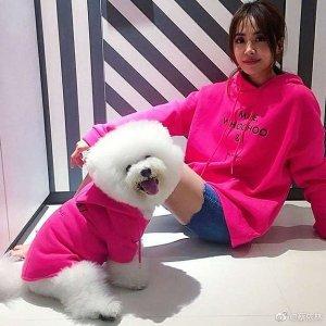Maje粉色小狗卫衣