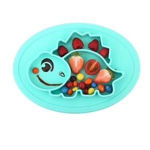 5dd7806421f0 Qshare Toddler Plate, Baby Plate for Babies Toddlers and Kids ...