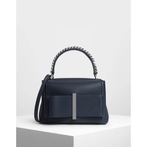 Charles & KeithDark Blue Bow Detail Handbag | CHARLES & KEITH US