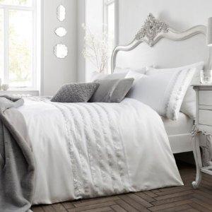 Fusion银白色毛绒床单