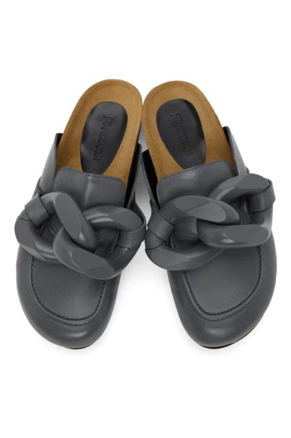 Grey Chain 穆勒鞋
