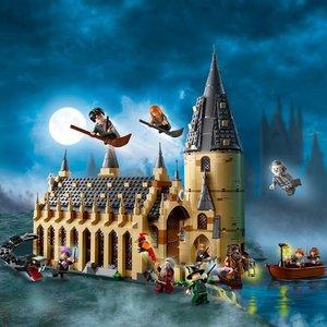 $131(原价$157)史低价:Lego 哈利波特系列 75954 霍格沃茨大礼堂补货