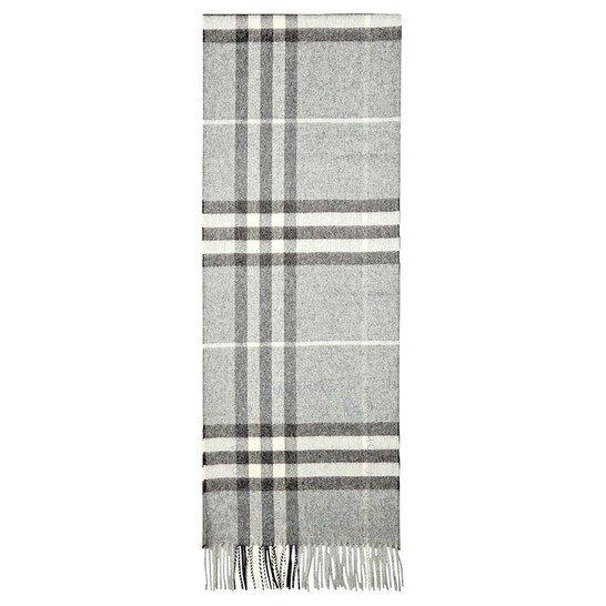 Giant Check灰色格纹围巾