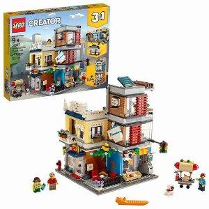 $79.99(原价$99.99)LEGO 乐高 31097 创意百变3合1 宠物店和咖啡厅排楼