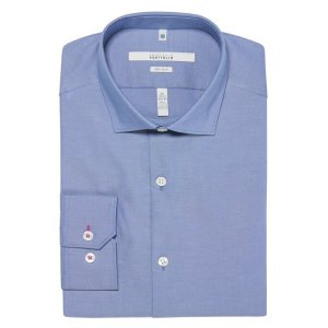 Perry EllisVery Slim Fit Solid Oxford Dress Shirt